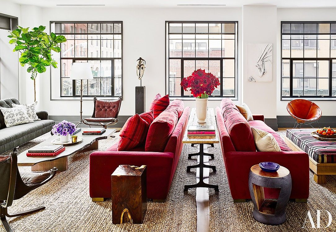 fresh new ways to decorate your living room this year red sofa rh pinterest com