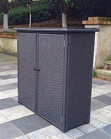 Pebble Lane Living Outdoor Rust Proof Wicker Storage Unit Deck Box