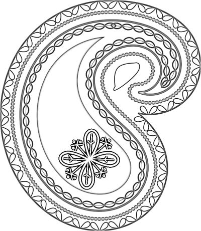 coloring pages adults on paisley pattern adapted from openclipart - Cool Patterns To Colour In