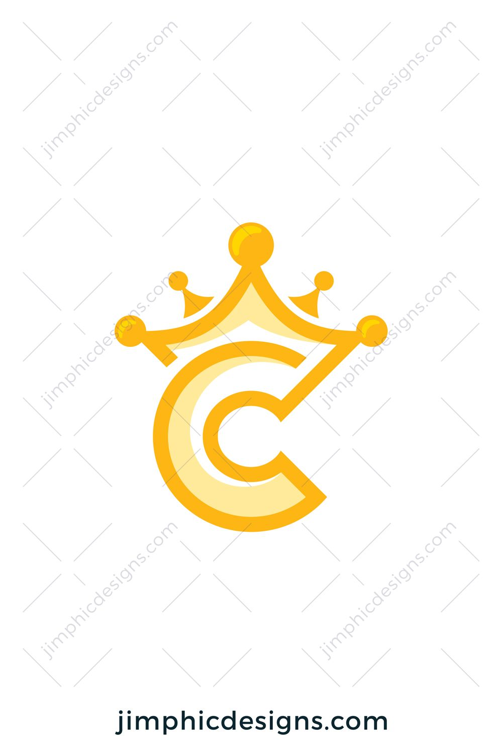 C With A Crown : crown, Letter, Professional, Graphic, Design,, Website, Design, Services,, Lettering