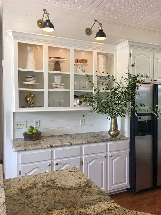 Kitchen Cabinet Sconce Light Cabinets and shiplap