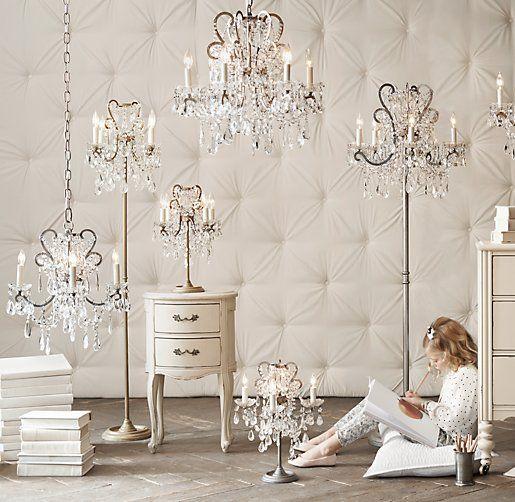 Chandelier Floor Lamp At Rh Baby Child Manor Court Crystal 4