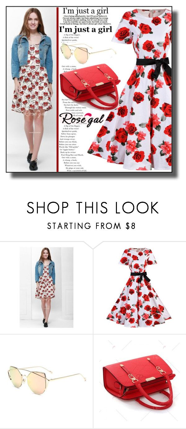 """""""Pretty Girl Rosegal III/45"""" by dzemila-c ❤ liked on Polyvore featuring vintage"""