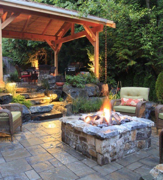 fire pit Sarah\u0027s Dream Home Pinterest Patios traseros y House