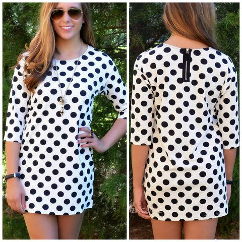 On The Dot Cream & Black Polka Dot Dress | Amazing Lace