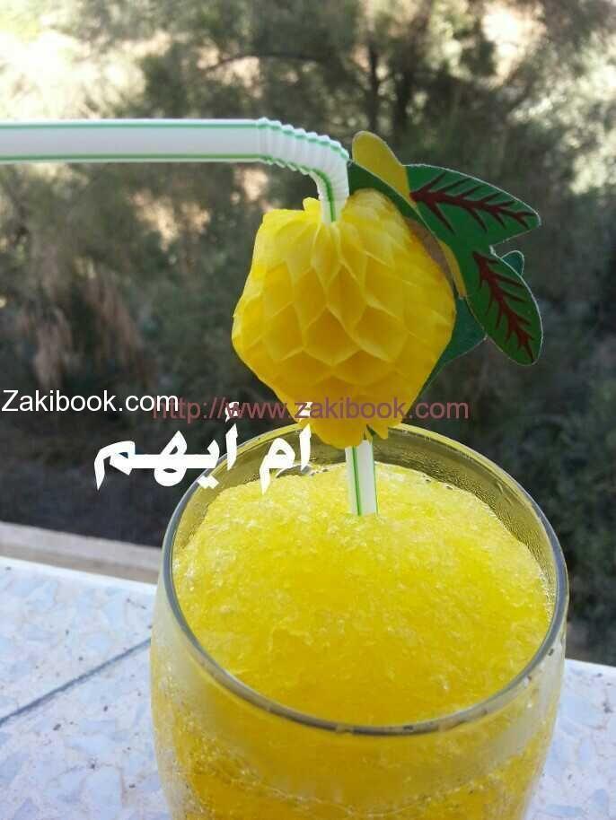 البراد أشهر شراب في غزة في فصل الصيف زاكي Fruit Food Desserts