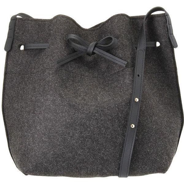 フェルトバケットBAG (5185 ALL) ❤ liked on Polyvore featuring bags and handbags