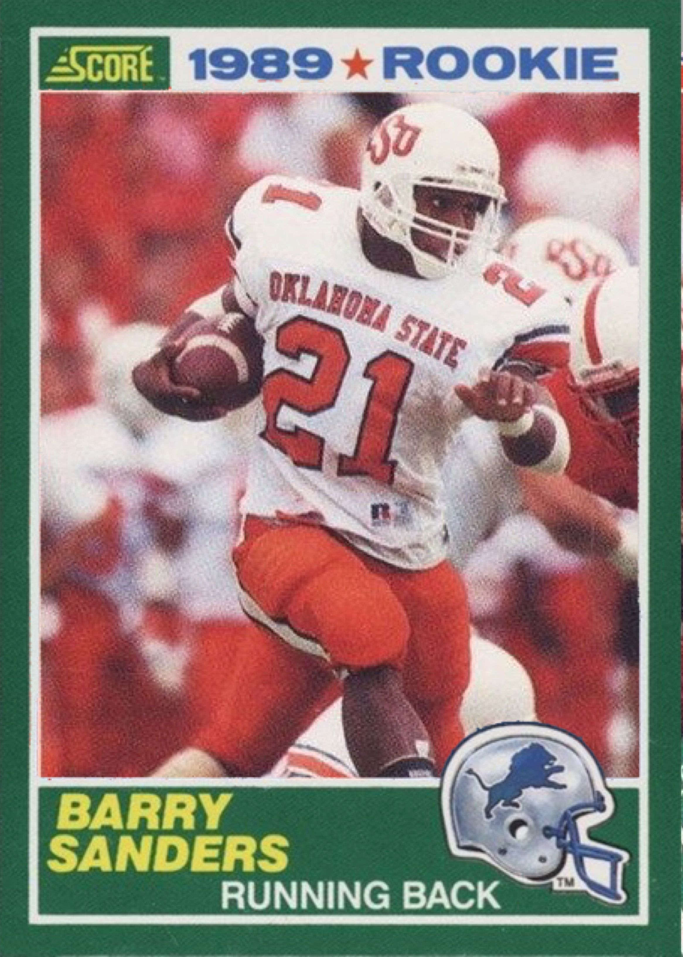 Barry Sanders 1989 Score Pro Set Mashup Customized Pop Culture