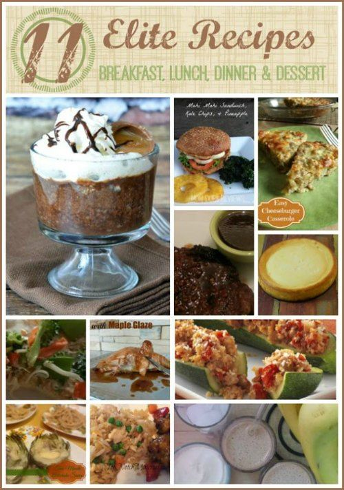 11 Recipe Favorites - Everything From Breakfast to Dessert! Are you looking for some fabulous recipe inspiration? I know I could sure use it now and again