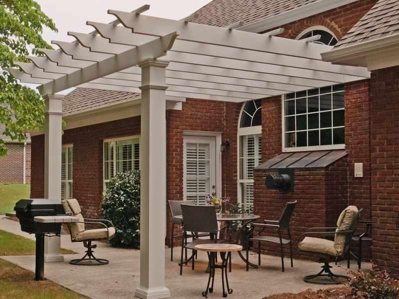 arbors direct fiberglass square column pergola attached to house rh pinterest com