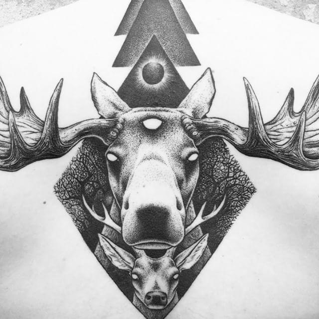 Pin By Meg Abbott On Tatoo Moose Tattoo Moose Skull Cartoon Art