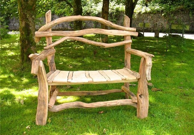 Bench Made From Branches And Twigs