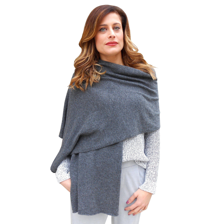 rivenditore all'ingrosso cc55c 66531 Cashmere shawl wrap women, grey shoulder wrap | Cachemire ...