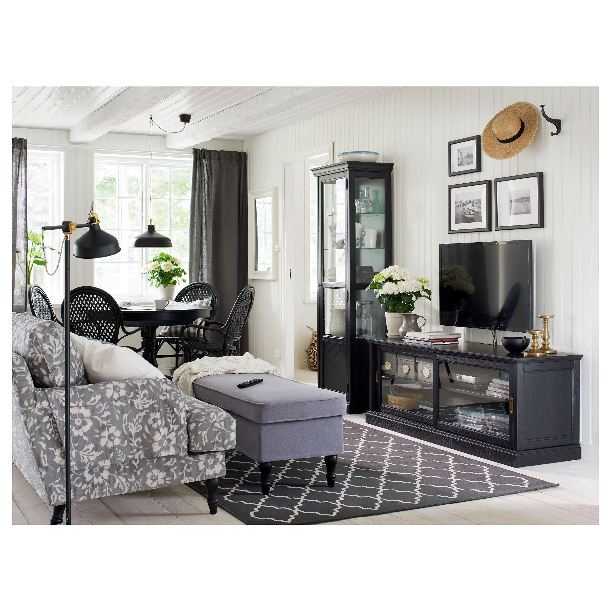ikea malsj tv unit with sliding doors black stained bellevue rh pinterest com