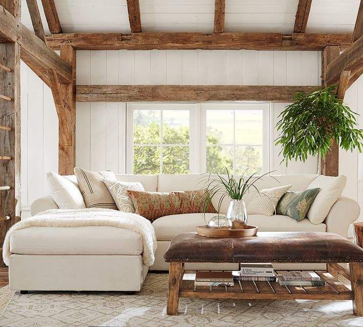 pb air roll arm upholstered 4 piece sofa with chaise sectional in rh pinterest com