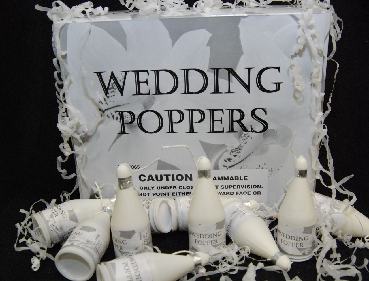 unusual wedding shower favors%0A Confetti champagne bottle shaped party poppers make the best wedding favors  for your reception  Sparklers inCyberSpace also carries other fun confetti