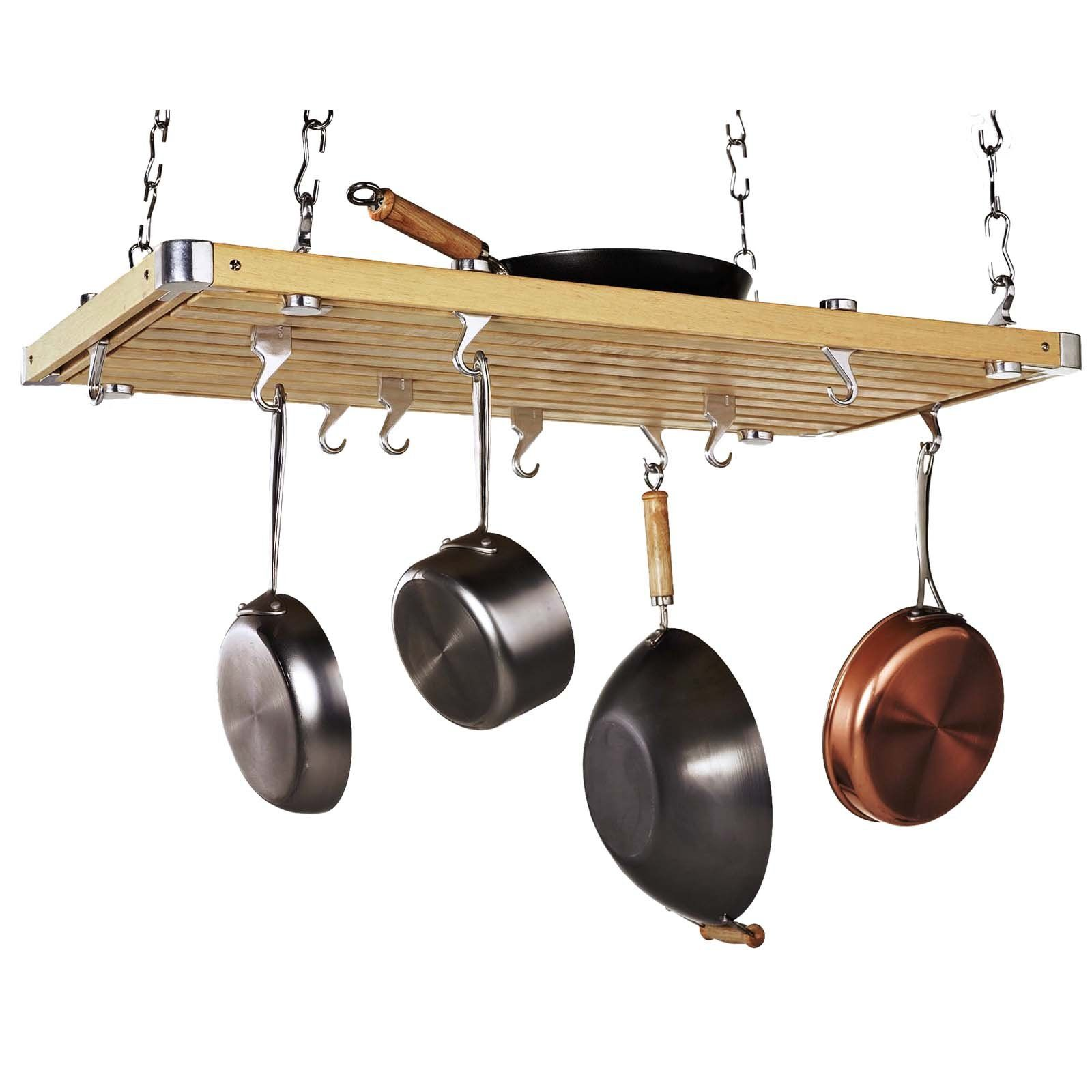 Have to have it. Wood Rectangular Ceiling Kitchen Pot Rack ...