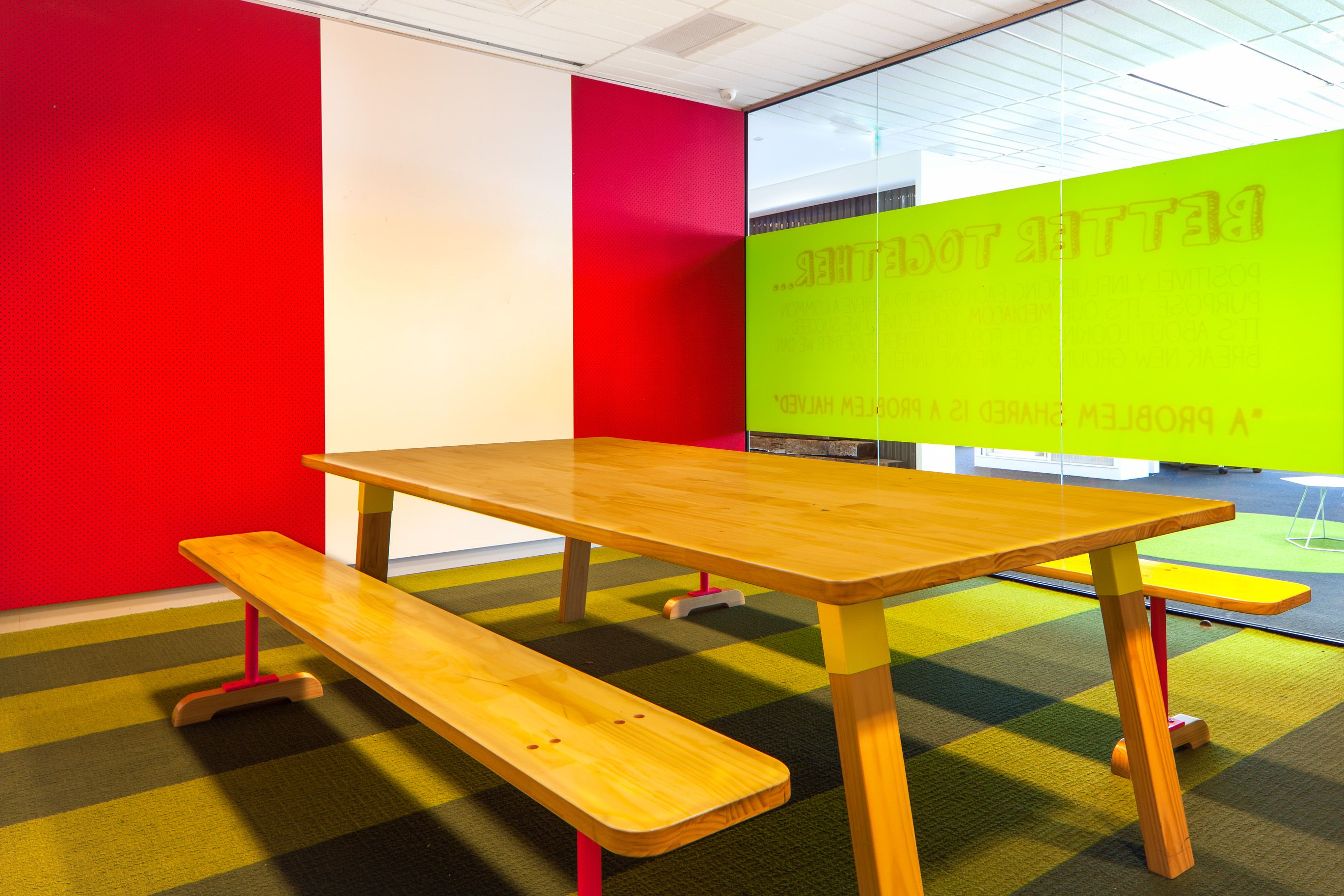 Mediacom The Bold Collective Office Indoor Picnic Table Breakout - Office picnic table