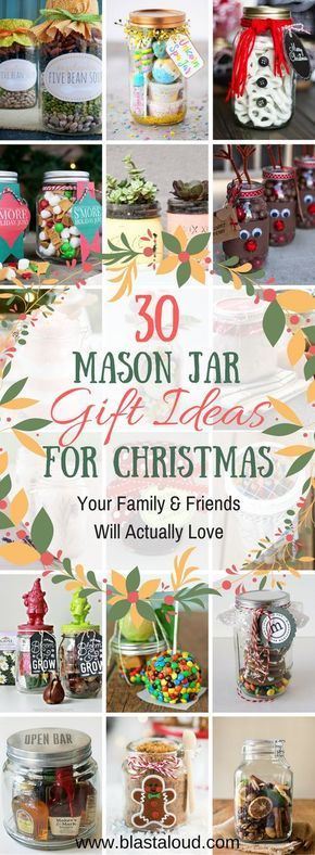 30 Mason Jar Gift Ideas For Christmas That People Will Actually Love -   23 christmas crafts presents ideas