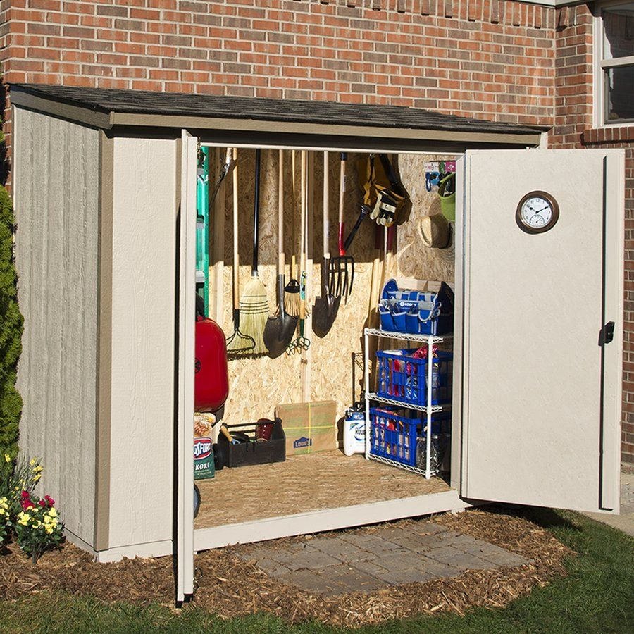 Heartland Home And Garden Scottsdale 8 Ft X 4 Engineered Wood Lean To Storage Shed At Lowe S Canada Find Our Selection Of Sheds