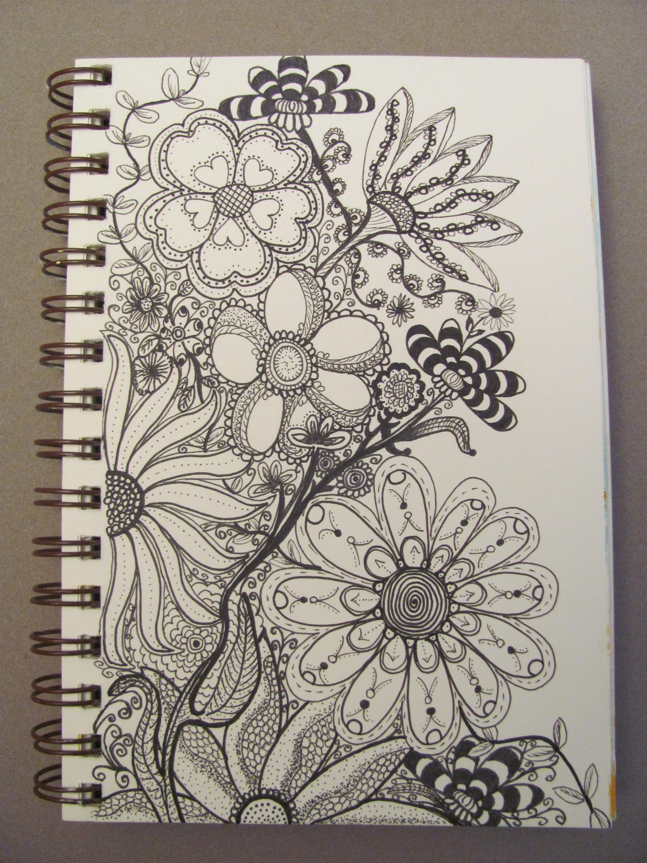Pinky dinky doo lori b doodled this amazing bouquet for Amazing drawings of roses