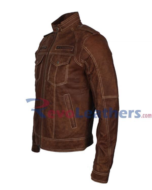Firestorm Legends of Tomorrow Franz Drameh Distressed Removable Shield Jacket