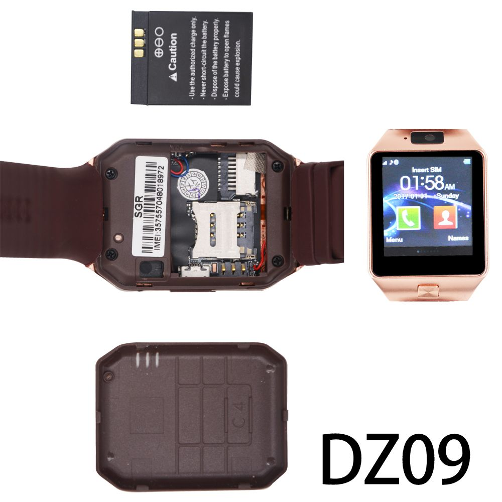 a23d8d4c44e Sograce DZ09 Bluetooth Smart Watch For Android Xiaomi HTC Samsung iPhone iOS  Camera SIM Slot Sports Fitness Tracker for Unisex - Katakuri Store Katakuri  ...
