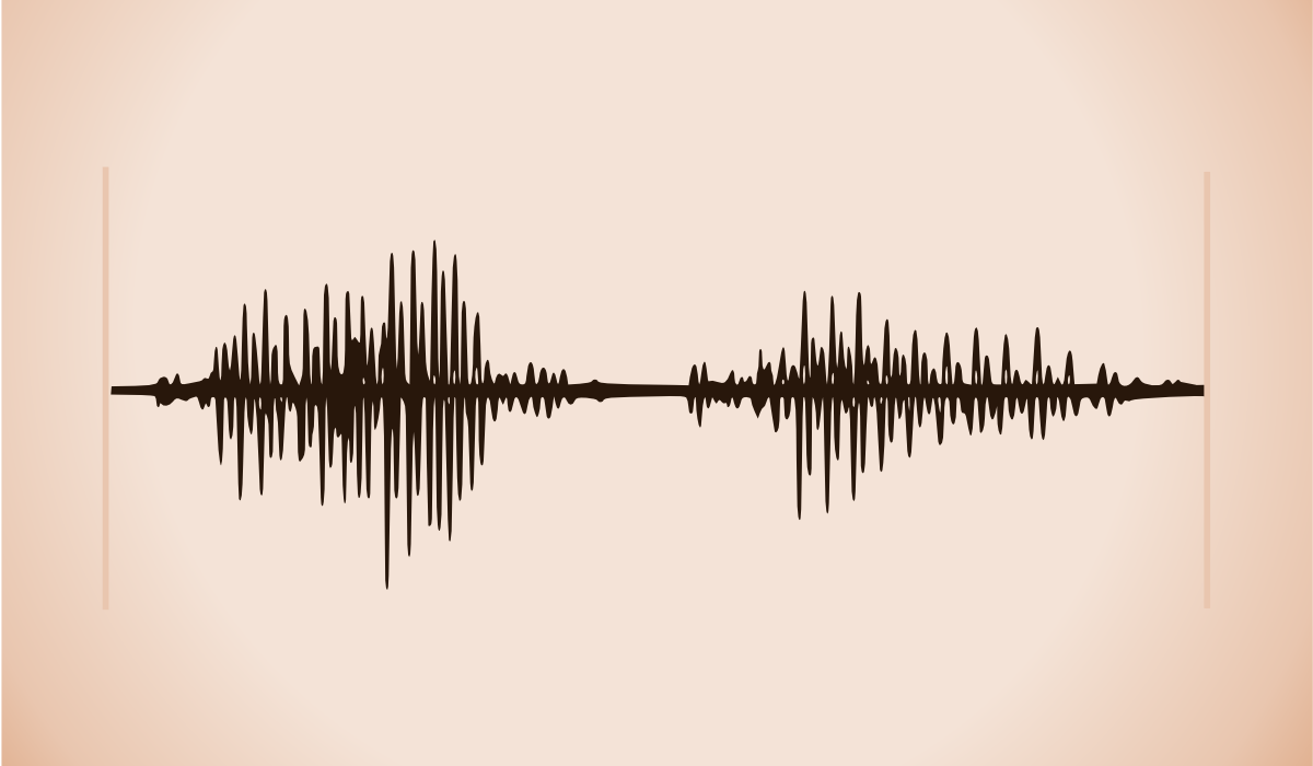"A waveform of me saying the word ""open"" by John LeMasney via 365sketches.org…"