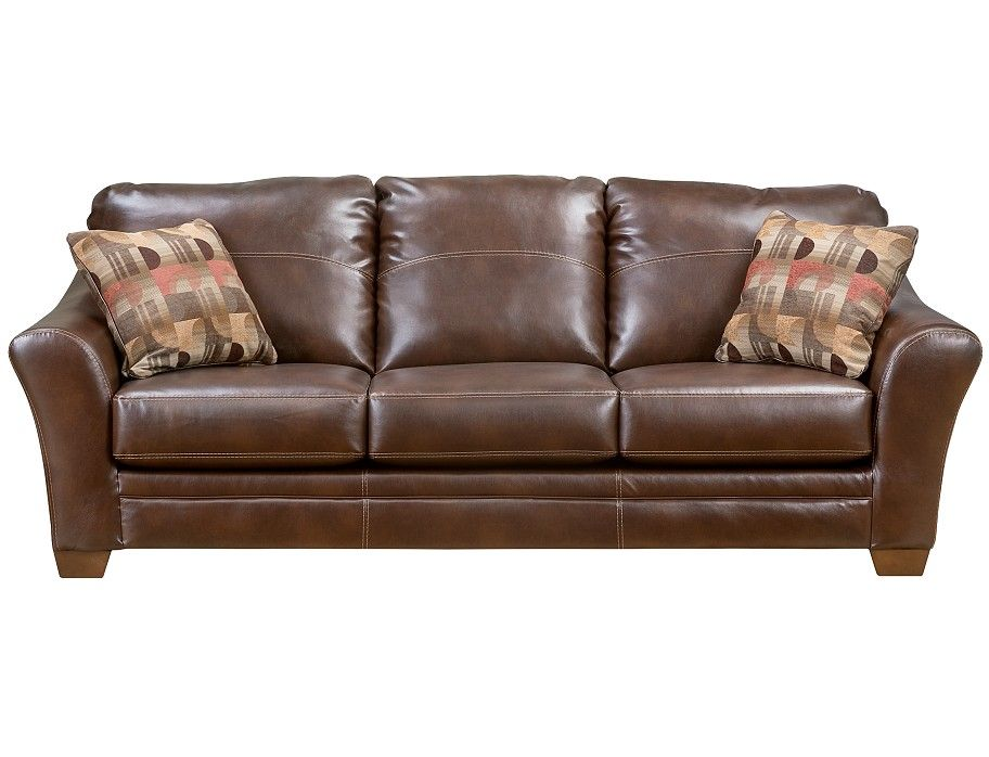 Slumberland | Brockport Collection - Brown Sofa | Farmhouse ... | slumberland mahogony sectional