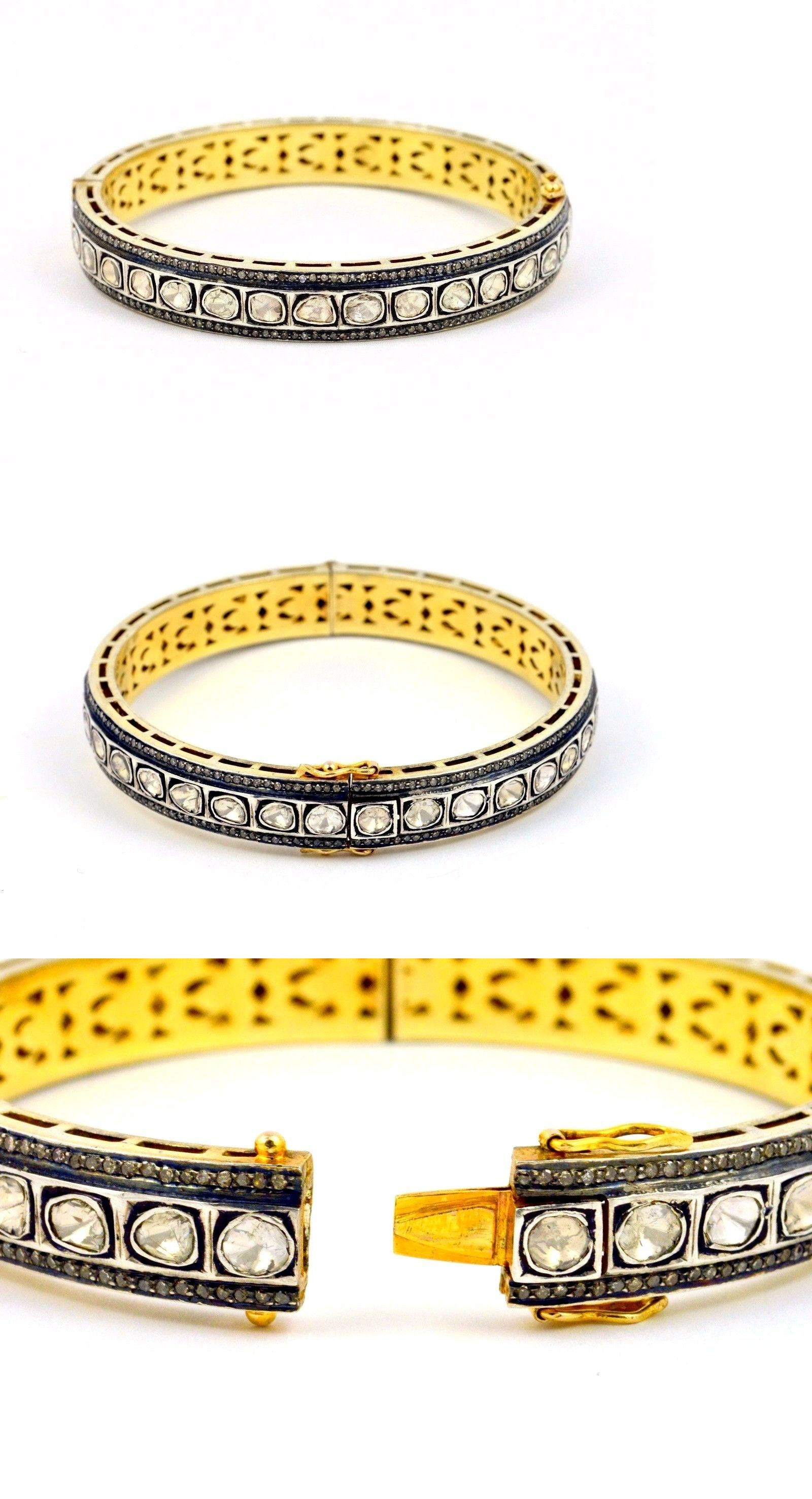 bangles yellow bangle heart j sterling gold with plated asp silver jaz flexible bracelets charm and p mesh bracelet