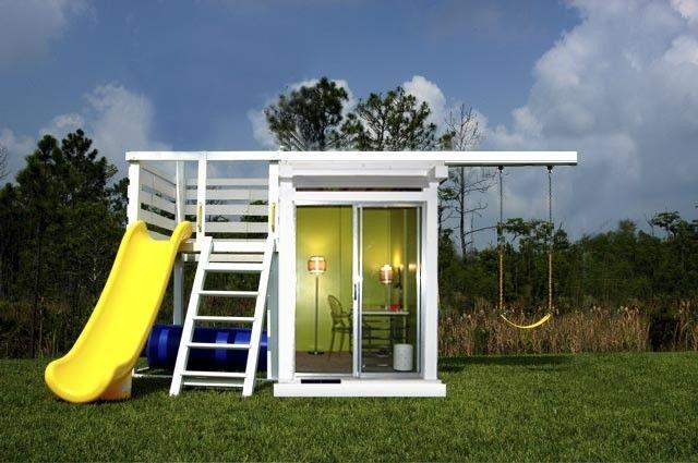 Metroplay Modern Playset Swing Set Play Structure Spielhaus