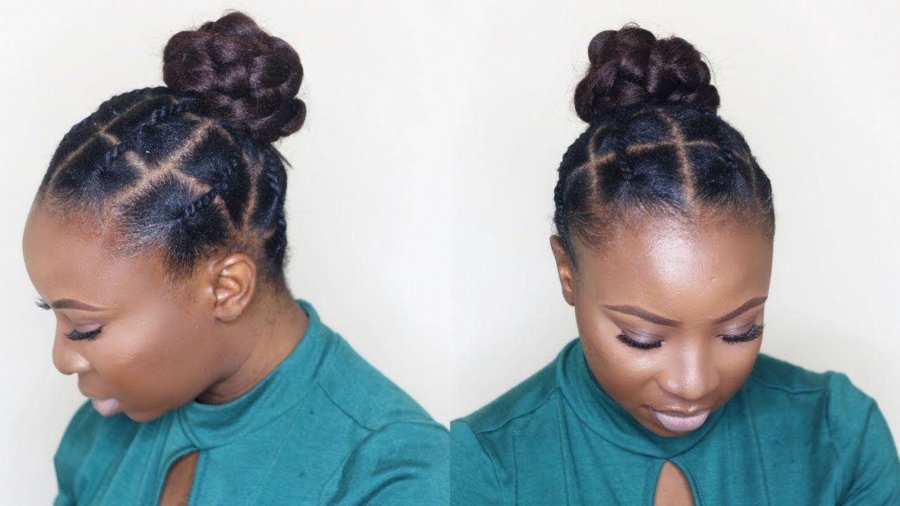 African Threading Updo On Short Natural Hair Tondie Phophi