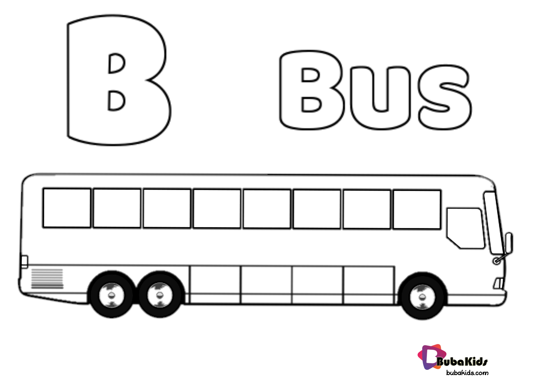 Bus Coloring For Kids