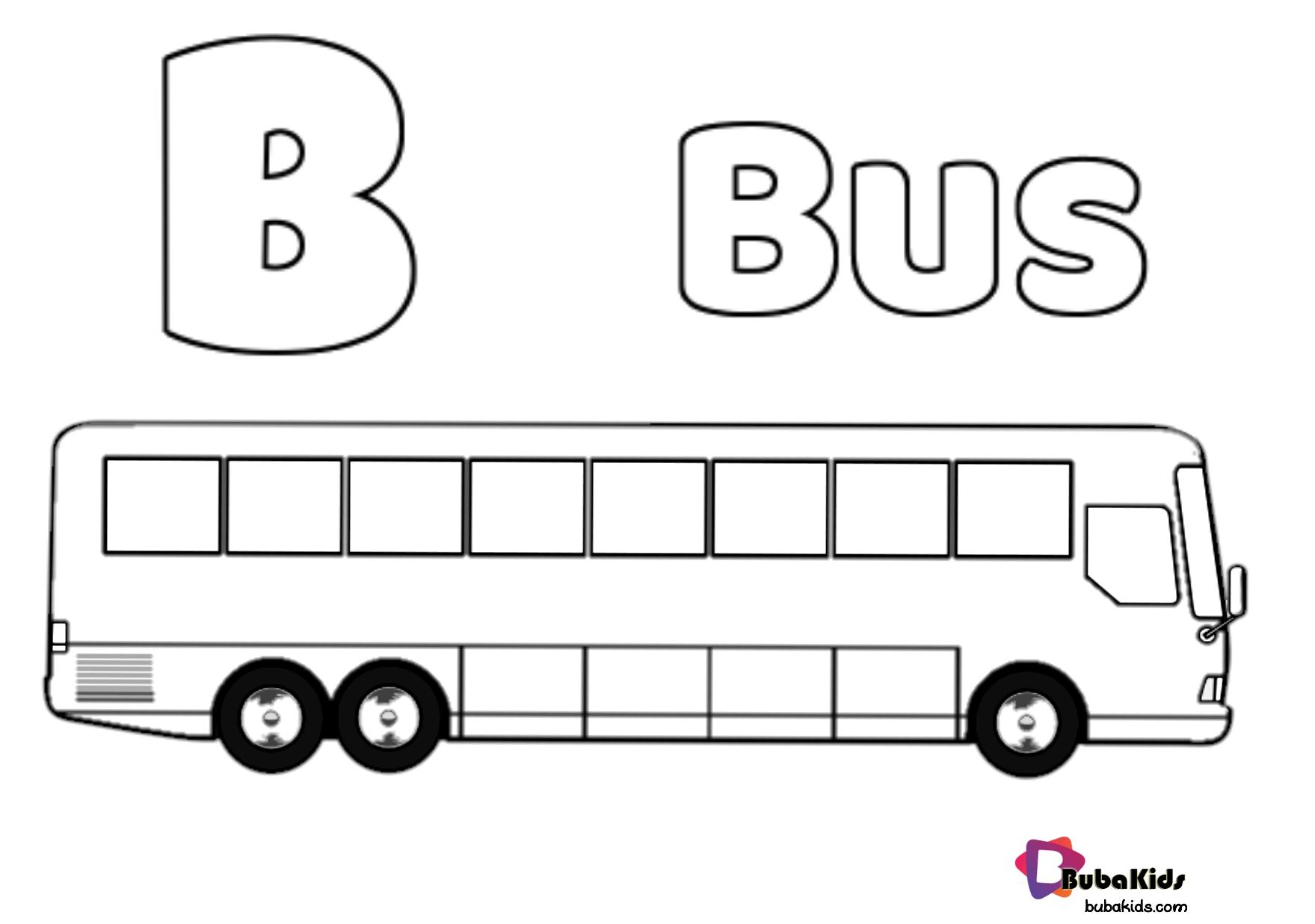 Alphabet B For Bus Coloring Page Printable Alphabet Bubakids Com Bus City Bus School Bus Transportations Alph Coloring Pages Bus Cartoon Coloring Pages