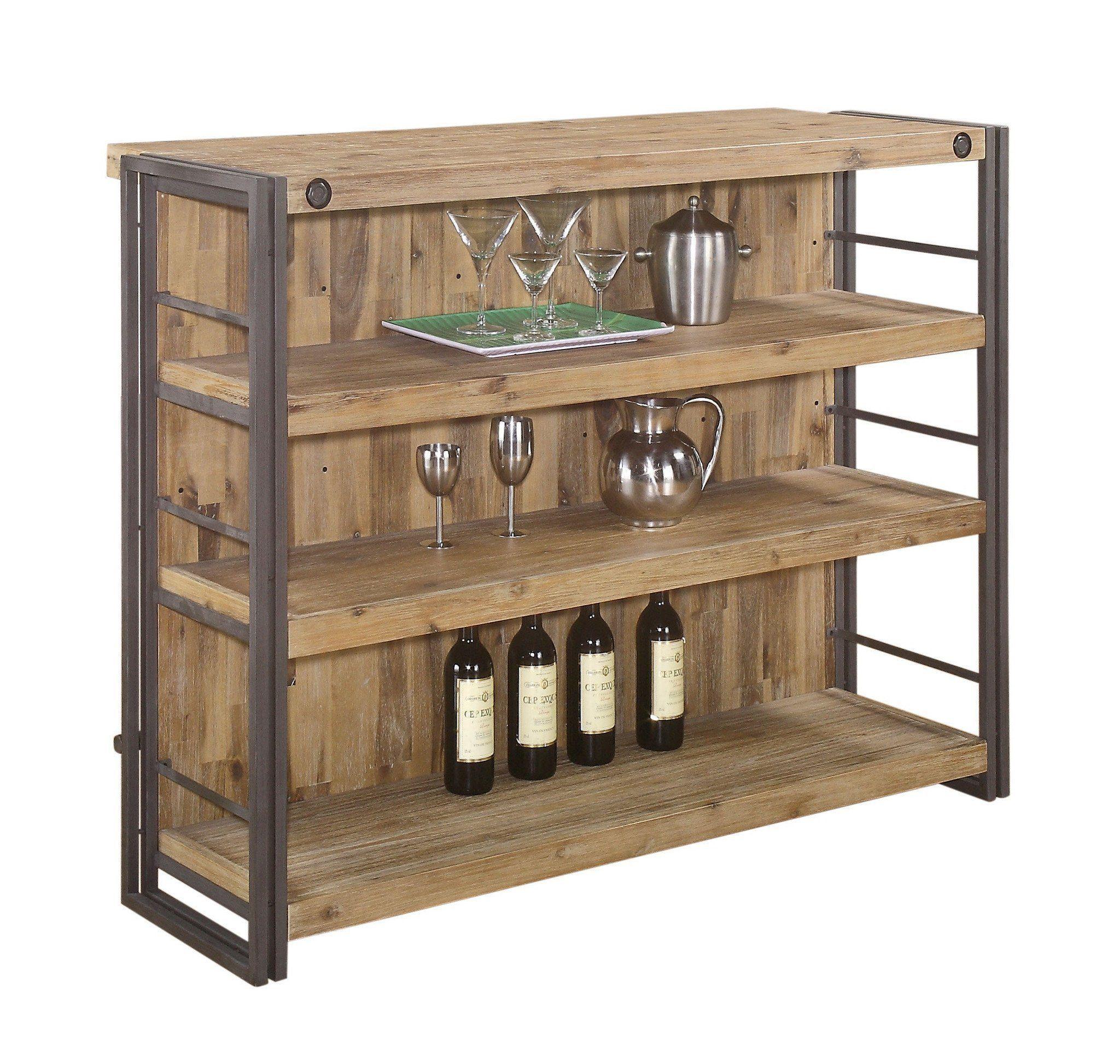 Moeus home brooklyn bar acacia wood industrial chic and acacia