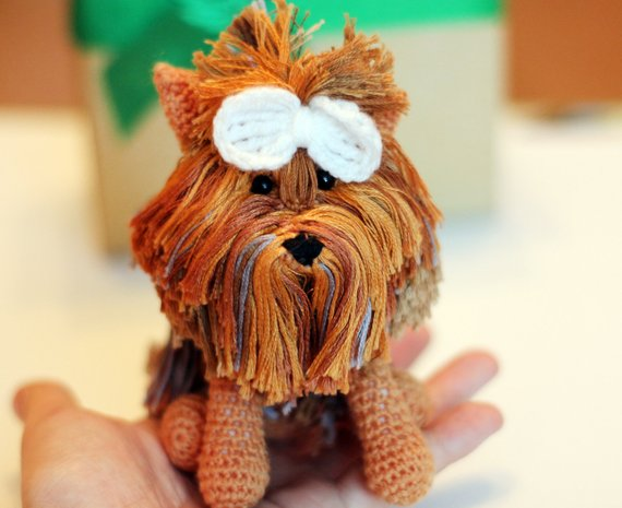 Crochet Yorkie, Amigurumi Yorkie, Yorkie Plush, Yorkie Toy, Yorkie ... | 465x570