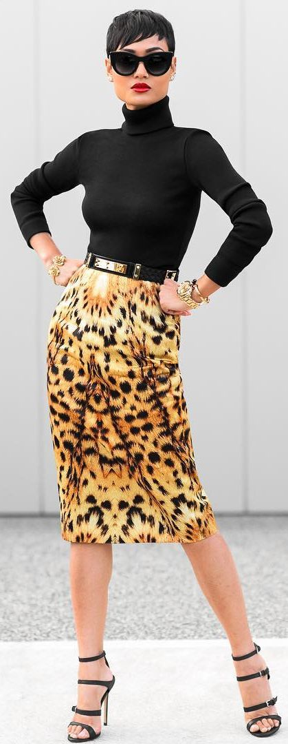 Black And Leopard Outfit Idea by Micah Gianneli