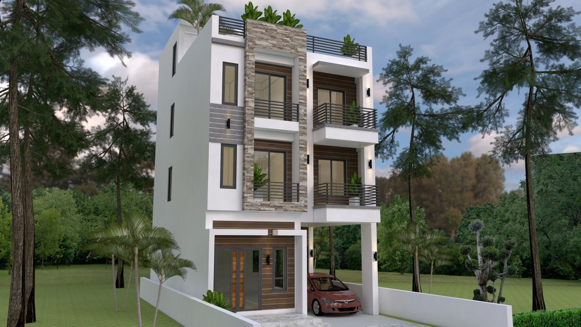 Home Design Plan 7x10m With 6 Bedrooms Kerala House Design Home Design Plan House Design