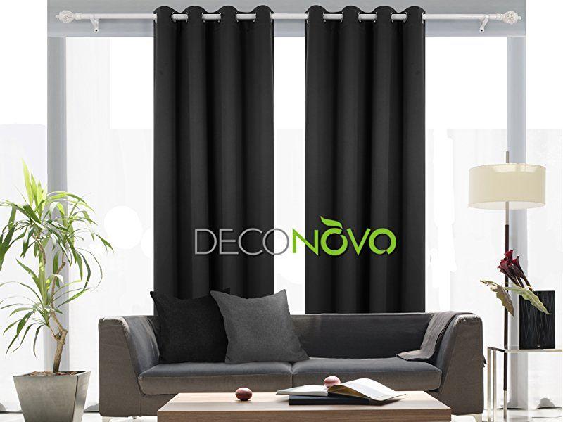 Black Curtains Living Room Simple Design