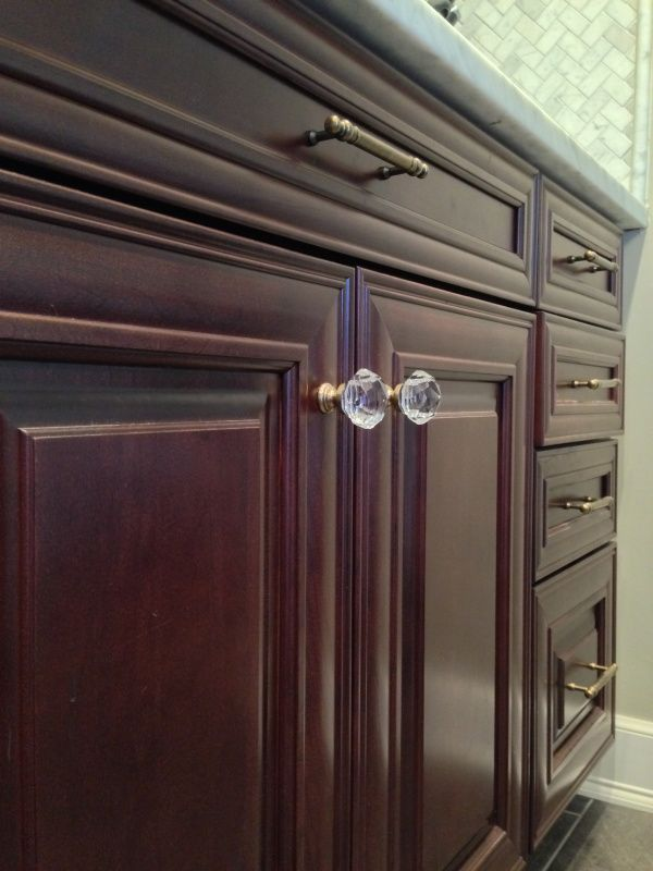 Crystal And Brass Kitchen Cabinet Knob Cabinet Pull