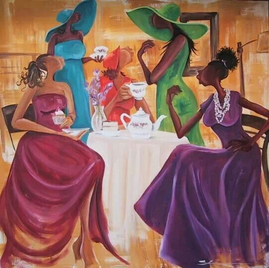 A Touch of Envy 24x36 Poster Women in Dress Caribbean Black Art by Romeo Downer