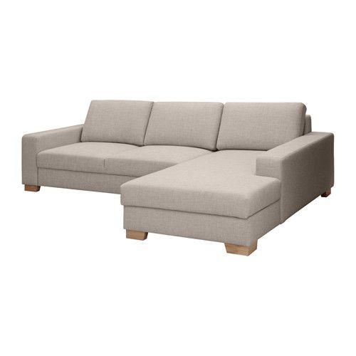 Recamiere ikea  SÖRVALLEN 2-seters sofa med sjeselong, høyre IKEA En dyp, romslig ...