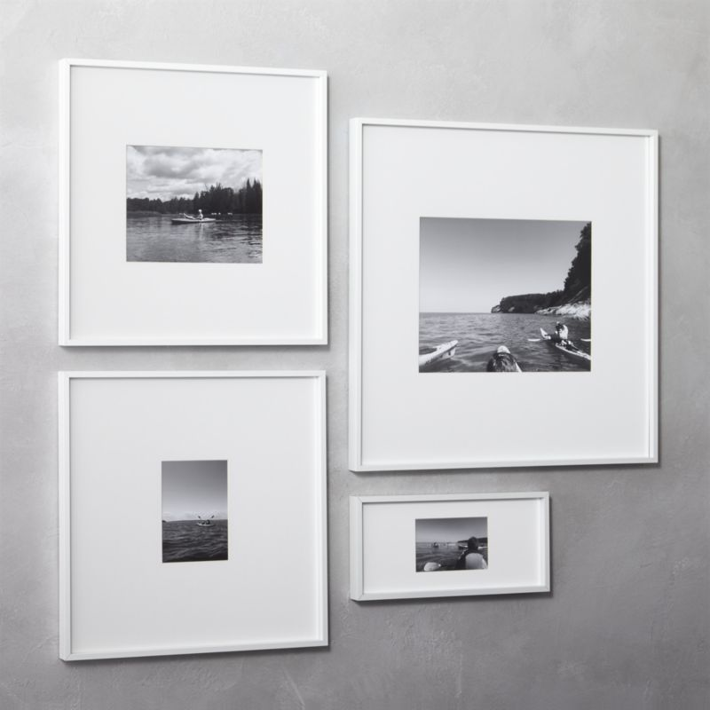 Gallery White 11 X14 Picture Frame Cb2 White Picture Frames Frames On Wall Unique Picture Frames