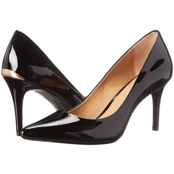 Calvin Klein Gayle (Black Patent) High Heels ($99) ❤ liked on Polyvore