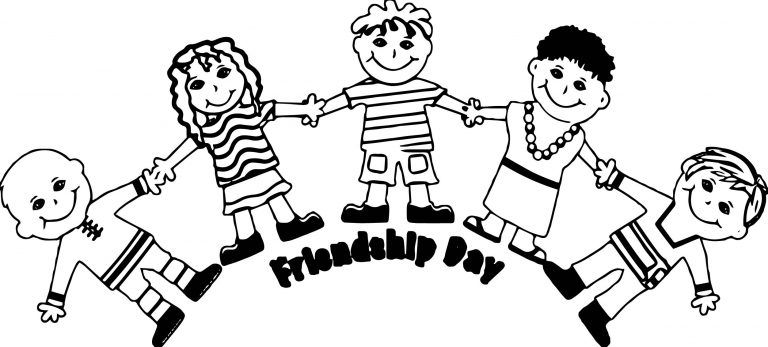 Friendship Girls Coloring Page Five Friends Coloring Pages Coloring Pages For Girls