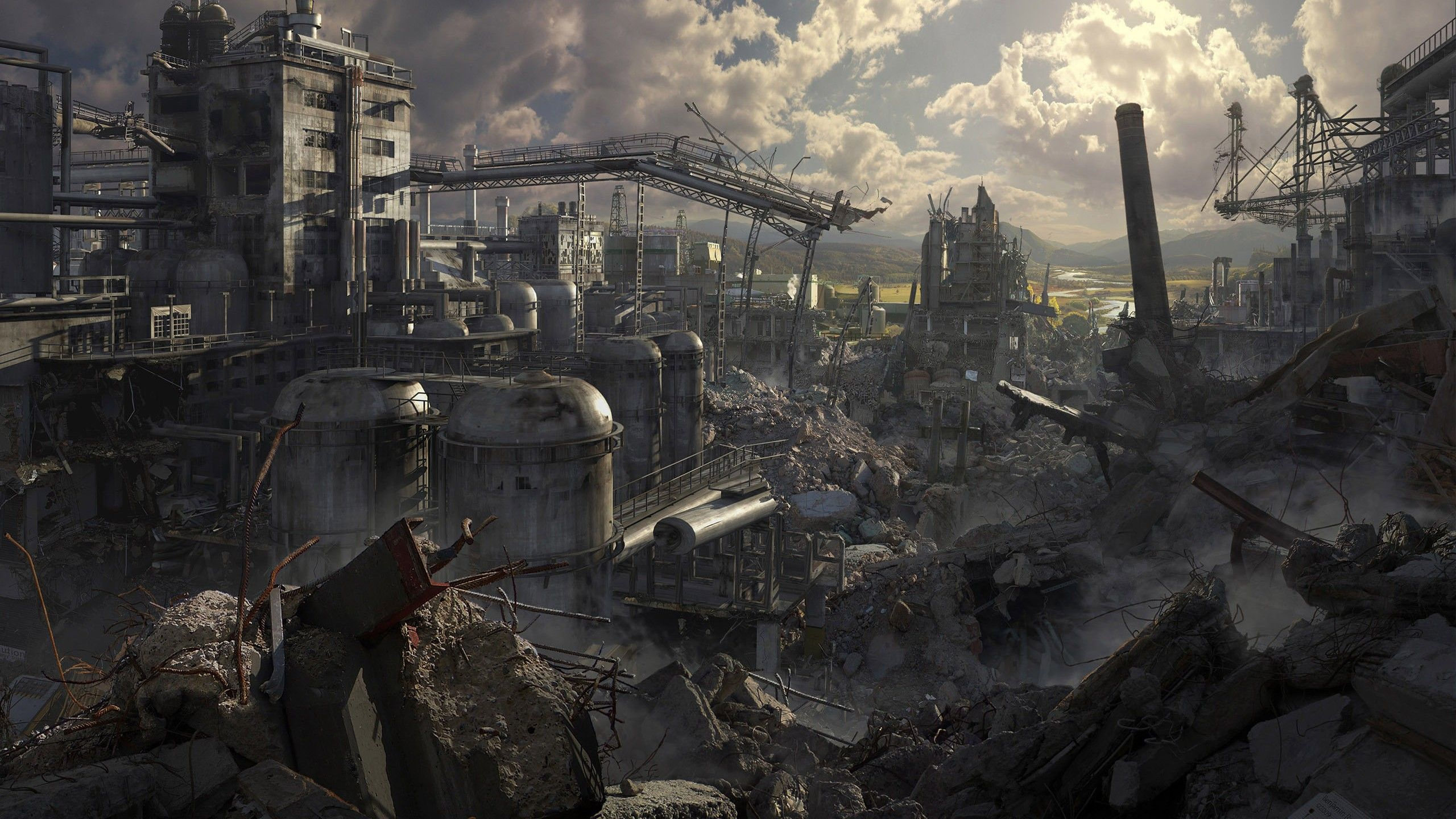 2560 X 1440 Wallpaper Dump Post Apocalyptic City Post Apocalyptic Art Apocalypse World