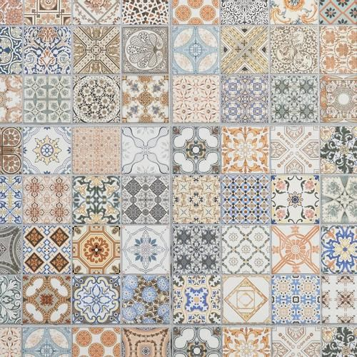 Decorative Porcelain Tile Fascinating Provenzia Decorative Mix Pattern Porcelain Tile  Porcelain Tile Decorating Inspiration