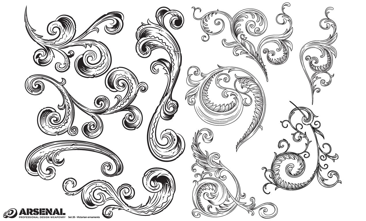 Adobe Illustrator Ornaments Victorian Vector Pack Victorian Ornaments Design Ornaments