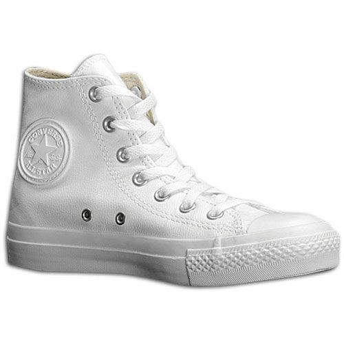 Caballero Viaje oriental  Converse All Star Leather Hi - Men's at Foot Locker | Converse leather high  tops, White leather converse, Leather converse