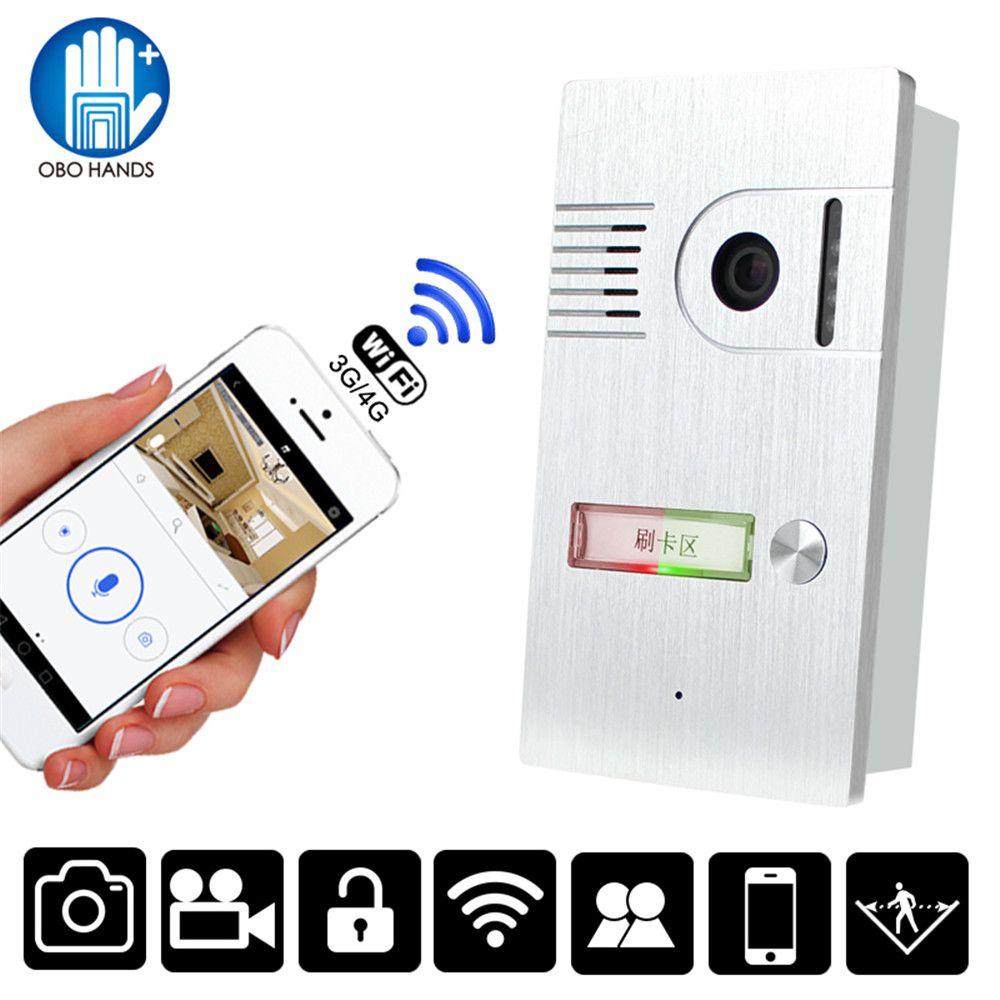 Smart Door Intercom System Video Doorbell Rfid Wifi Wireless Camera Night Version Ir Motion Detection Alarm Fo Outdoor Camera Doorbell Intercom Wireless Camera